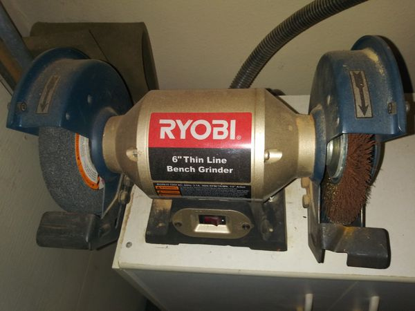 Superb Ryobi 6 In Bench Grinder Gmtry Best Dining Table And Chair Ideas Images Gmtryco