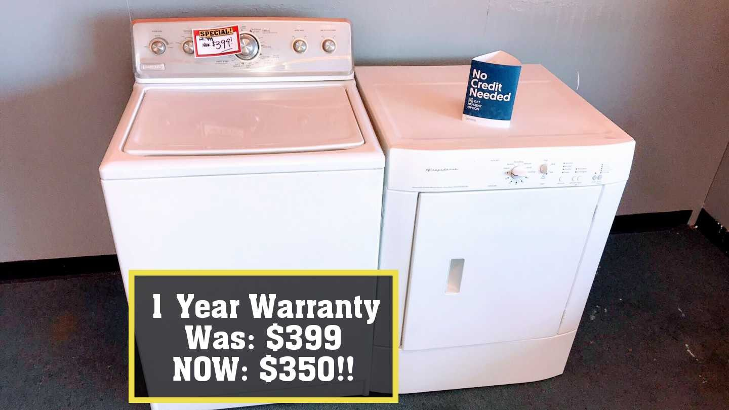 (E) BIG SALE! Washer dryer sets w/ 1 year warranty! No credit financing available!