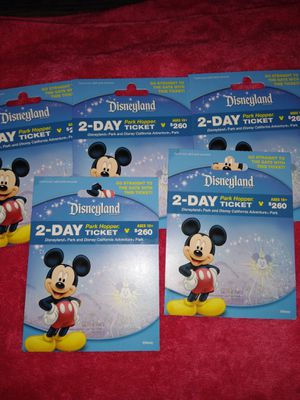 2-Day Disneyland 2day Park Hopper Pass for Sale in San Francisco, CA