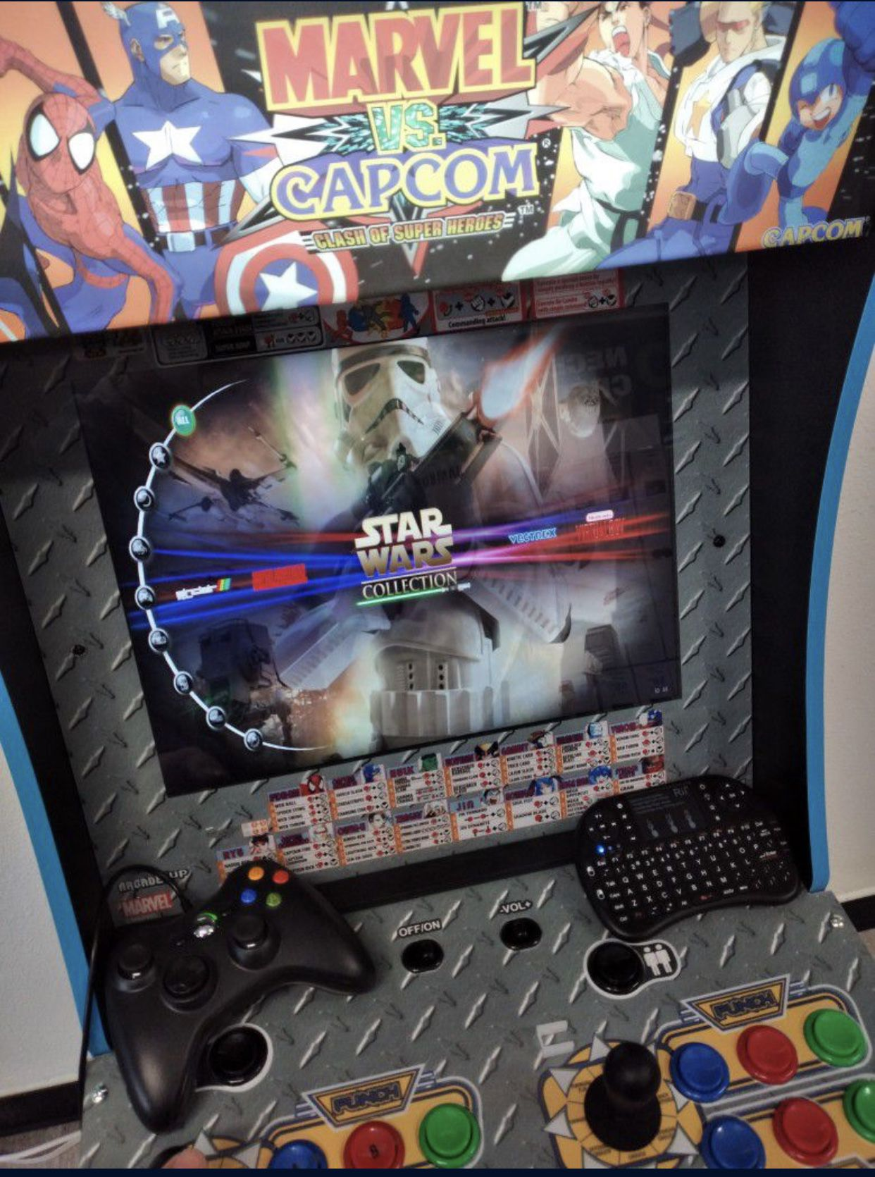 Arcade Cabinet Custom 10000 + Games 60 Console Brand New With Led Marquee And Led Control Pannel .Pc & Keyboard And 1 Controller