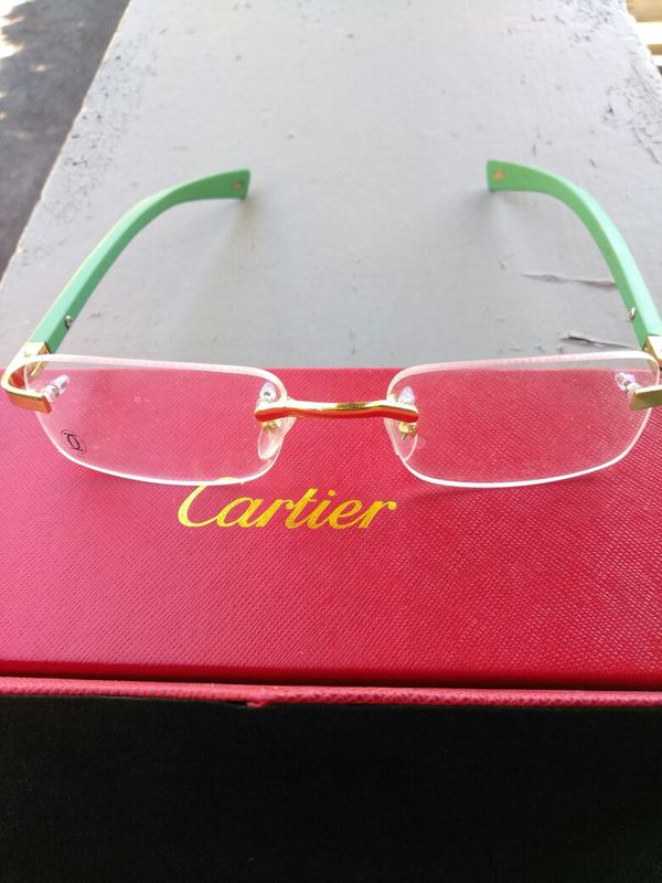 CLEAR GOLD CARTIER FRAMES BUFFS FOR SALE (Jewelry & Accessories) in ...