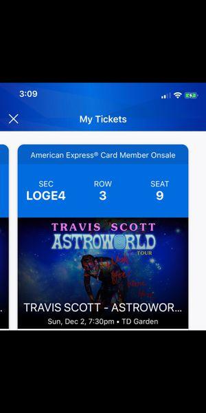 Ticket To Travis Scott Astroworld for Sale in Swampscott, MA
