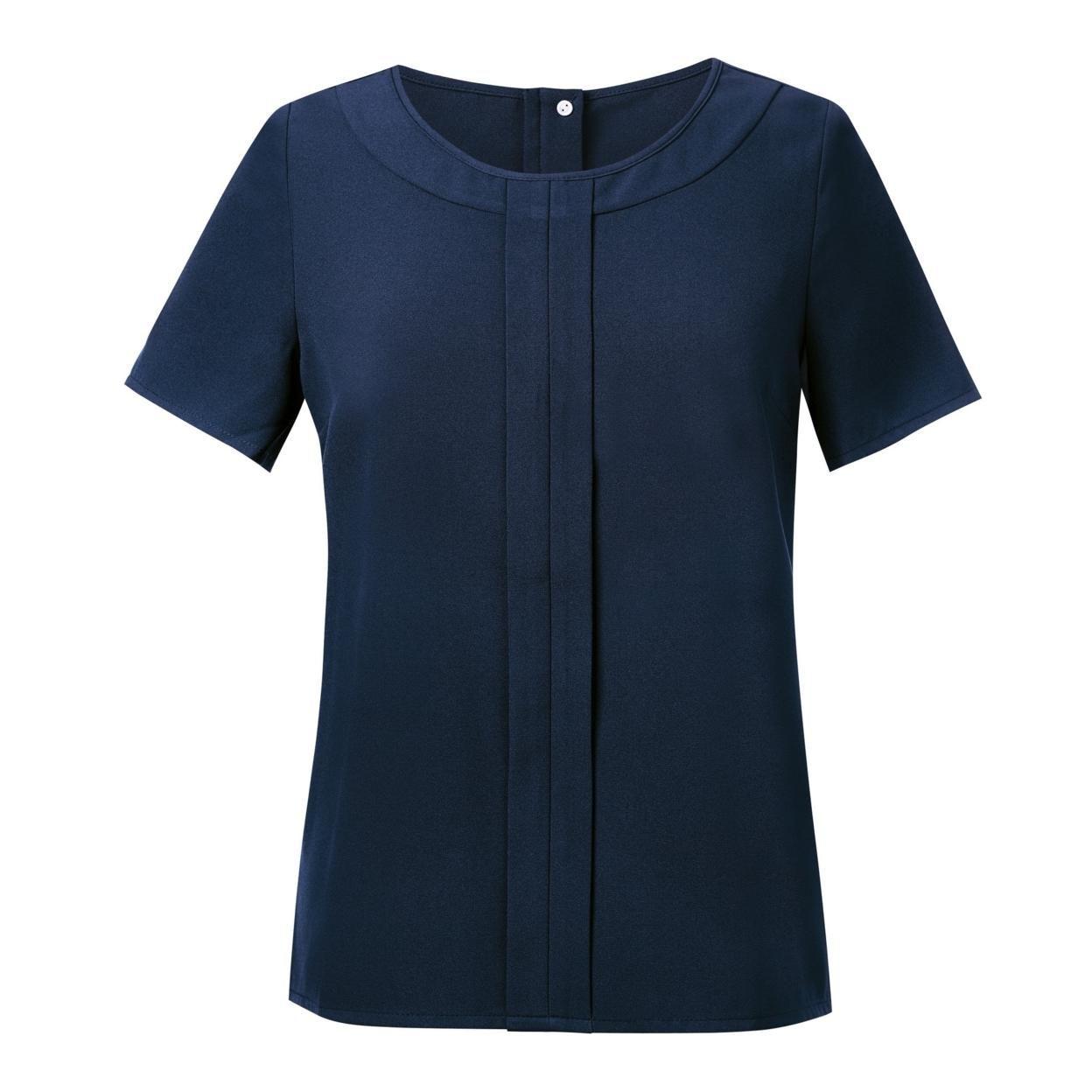 Brook Taverner Womens/Ladies Verona Crepe De Chine Short Sleeved Blouse Size 10
