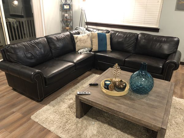 Furniture In Storage Leather Sectional Queen Bed W