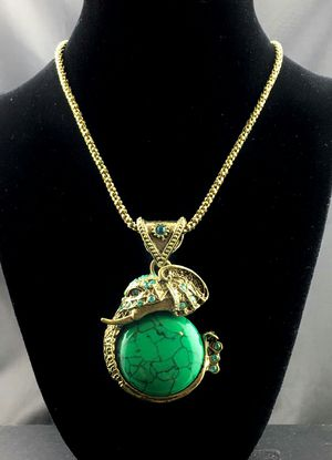 Elephant Pendant Green Necklace for Sale in North Highlands, CA