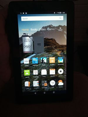 Kindle fire 7 with blue rubber protector for Sale in Lorton, VA