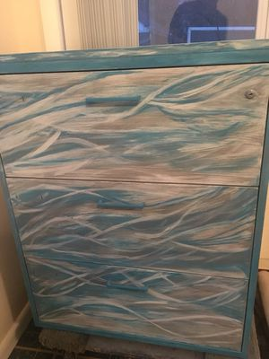Custom painted metal file cabinet for Sale in Ashton-Sandy Spring, MD