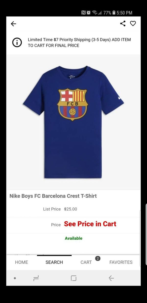 3eb4cf4a46a Barcelona Boys Shirt ( M) for Sale in Los Angeles