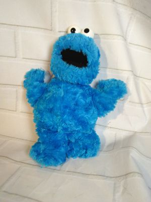 Photo Sesame Street cookie monster plush 2002 toy stuffed