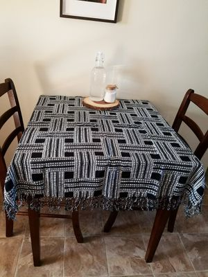 Boho bohemian moroccan pattern table desk cloth linen throw scarf home decor art for Sale in Los Angeles, CA