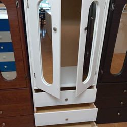New Compressed Wood Wardrobe Closet With Mirrors  Thumbnail