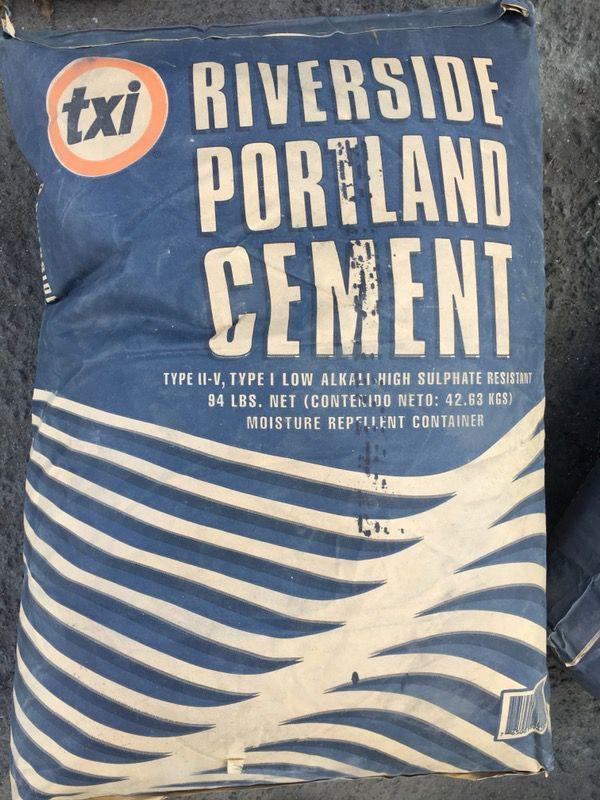 94 Lbs Bag Of Cement : Bags riverside portland cement lb for sale