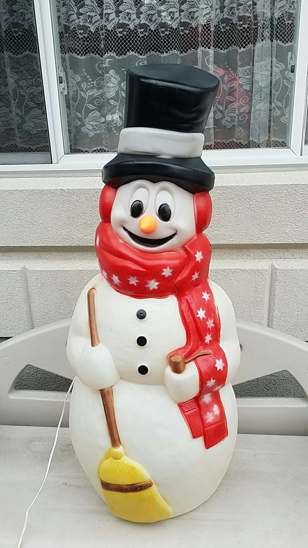 Snowman blow mold Christmas decoration for Sale in Niles ...