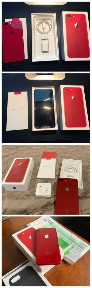Neverlocked iPhone 8 Plus 256GB Red for Sale in Bellevue, WA