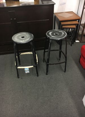 White barstools set of two black for Sale in Annandale, VA