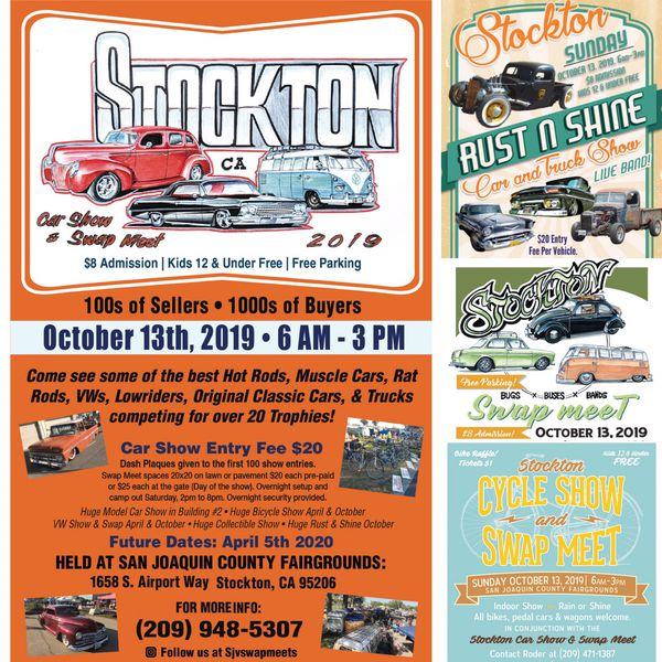 Stockton Swap Meet And Car Show Sunday October 13th For