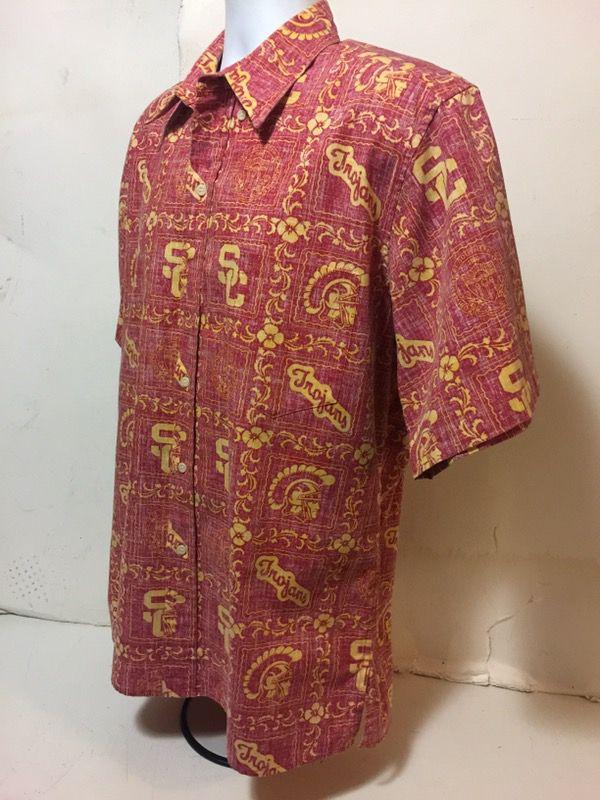 4be9ff31 Vintage REYN SPOONER NCAA USC Trojans Reverse Print Camp Hawaiian Shirt  size L for Sale in Long Beach, CA - OfferUp