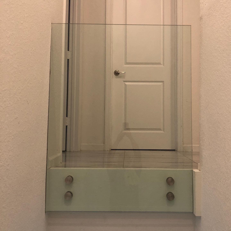 Interior glass railings