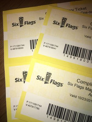 Six flags tickets for Sale in La Mesa, CA