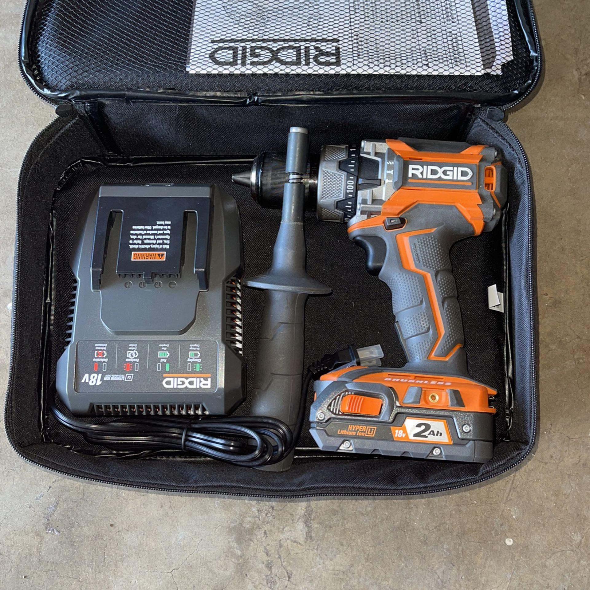 RIDGID 18V Brushless Hammer Drill Kit