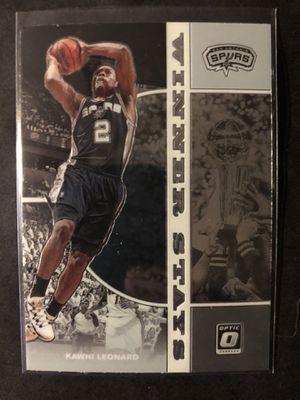 Photo Kawhi Leonard 2019 DONRUSS OPTIC Basketball Card. Kawhi Leonard San Antonio Spurs Basketball Trading Card Winner Stays