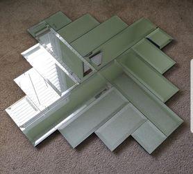 "Large Sized Cross Angled Mirror - 3' 5"" × 3' 5"" Thumbnail"