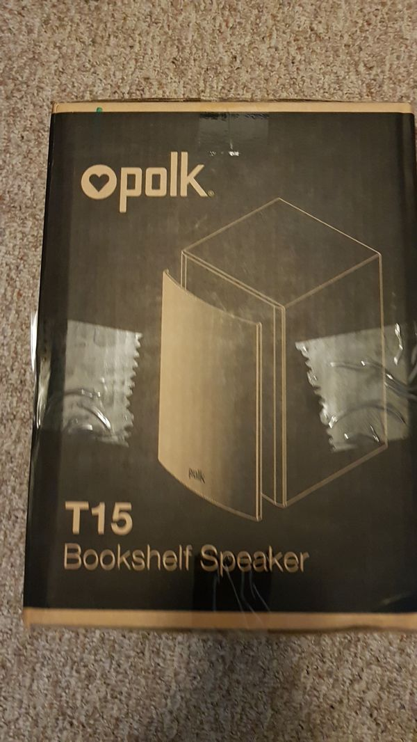 Polk T15 BookShelf Speaker Audio Equipment In Kissimmee FL