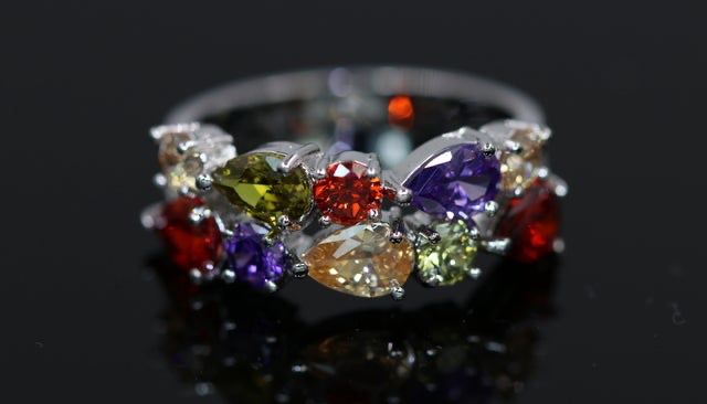 CZ rings 6-9 sizes. Yellow gold, platinum or rose gold