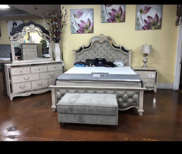 Queen Princess Style Bed Frame Dresser And Mirror Only New For Sale In Chicago IL