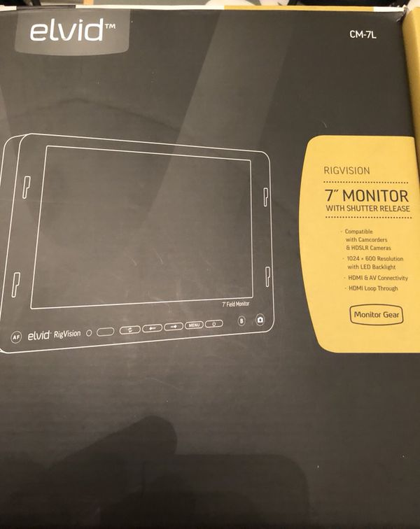 """Elvid RigVision CM-7L 7"""" Field Monitor with Shutter Release for Sale in  Glendale, CA - OfferUp"""