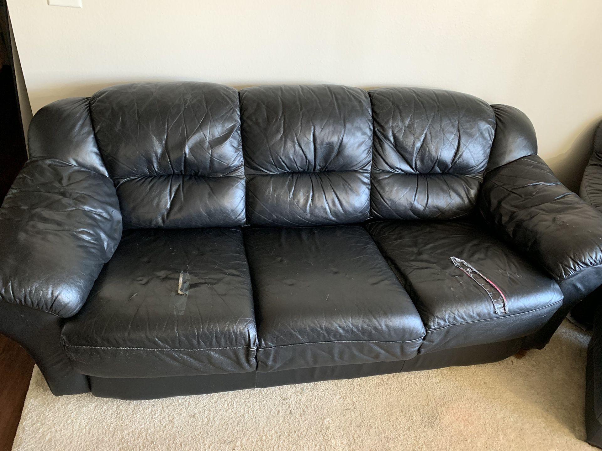 Sofa & Chair with ottoman Set