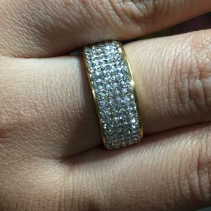 Gold Tone stainless steel ring bling band for Sale in Silver Spring, MD