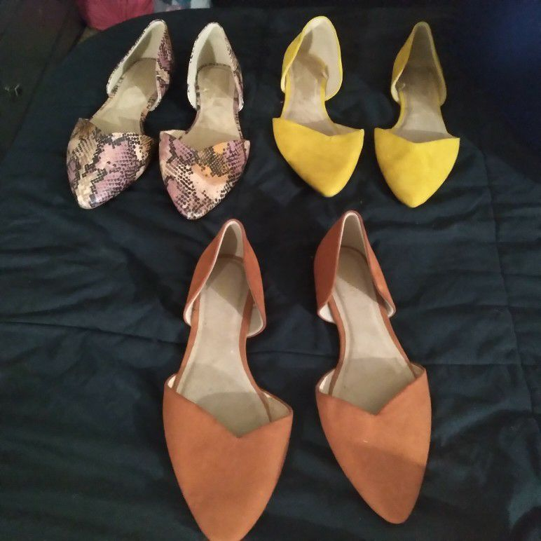 3 Nice Pair Of Womans Size 8 OLD NAVY Dress Sandals. All Same Style Just Different Colors