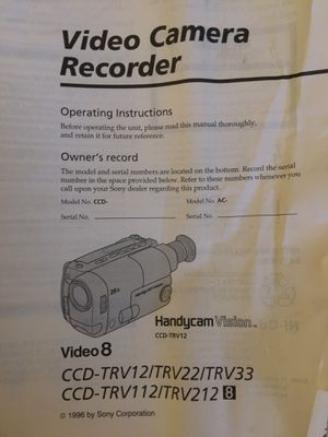 Sony Handycam Video 8 with accessories for Sale in Gilbert, AZ - OfferUp