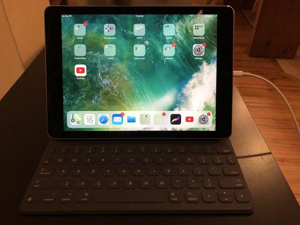 iPad Pro 9 7 WiFi + Cellular w/ Apple keyboard & Pencil for Sale in San  Francisco, CA - OfferUp
