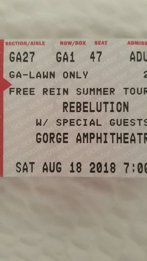 2 Tickets to Rebelution @ The Gorge for Sale in Wenatchee, WA