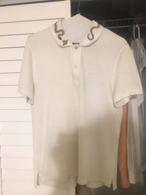 875d4ba1 Gucci kingsnake White Polo Size Small shirt Men's for Sale in Miami, FL -  OfferUp