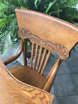 Antique Wooden High Chair Thumbnail