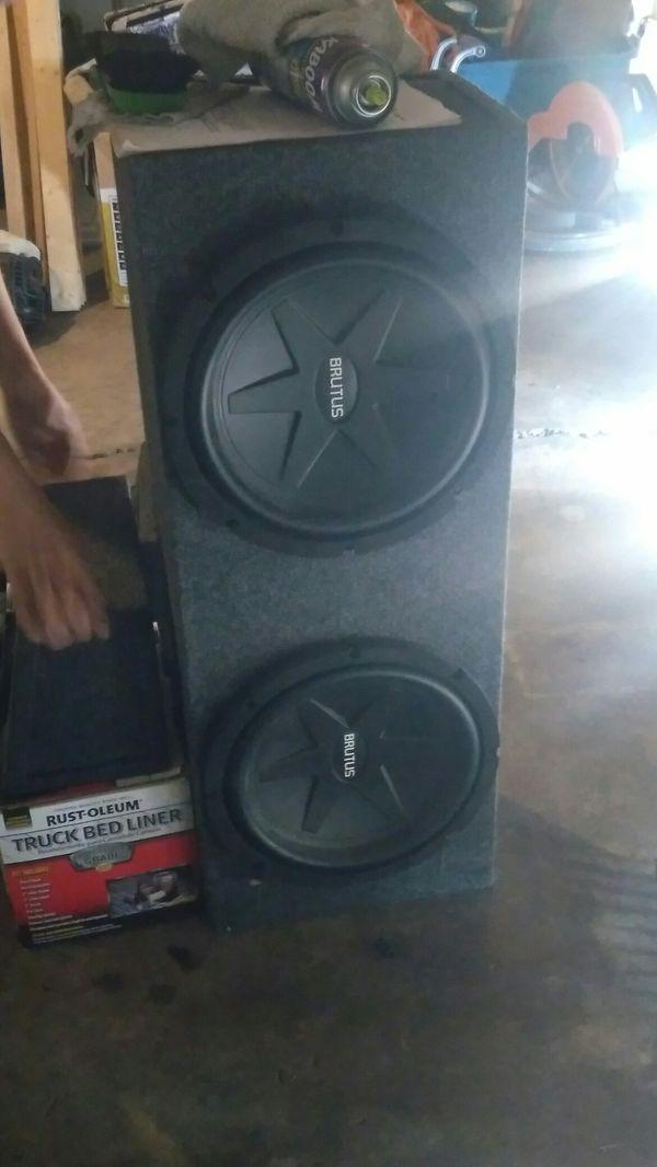 2 12in Brutus speakers in box for Sale in Fort Wayne, IN - OfferUp
