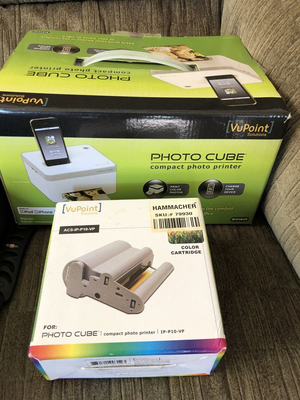Vupoint Photo Cube Compact Photo Printer Ink Cartridge Bundle
