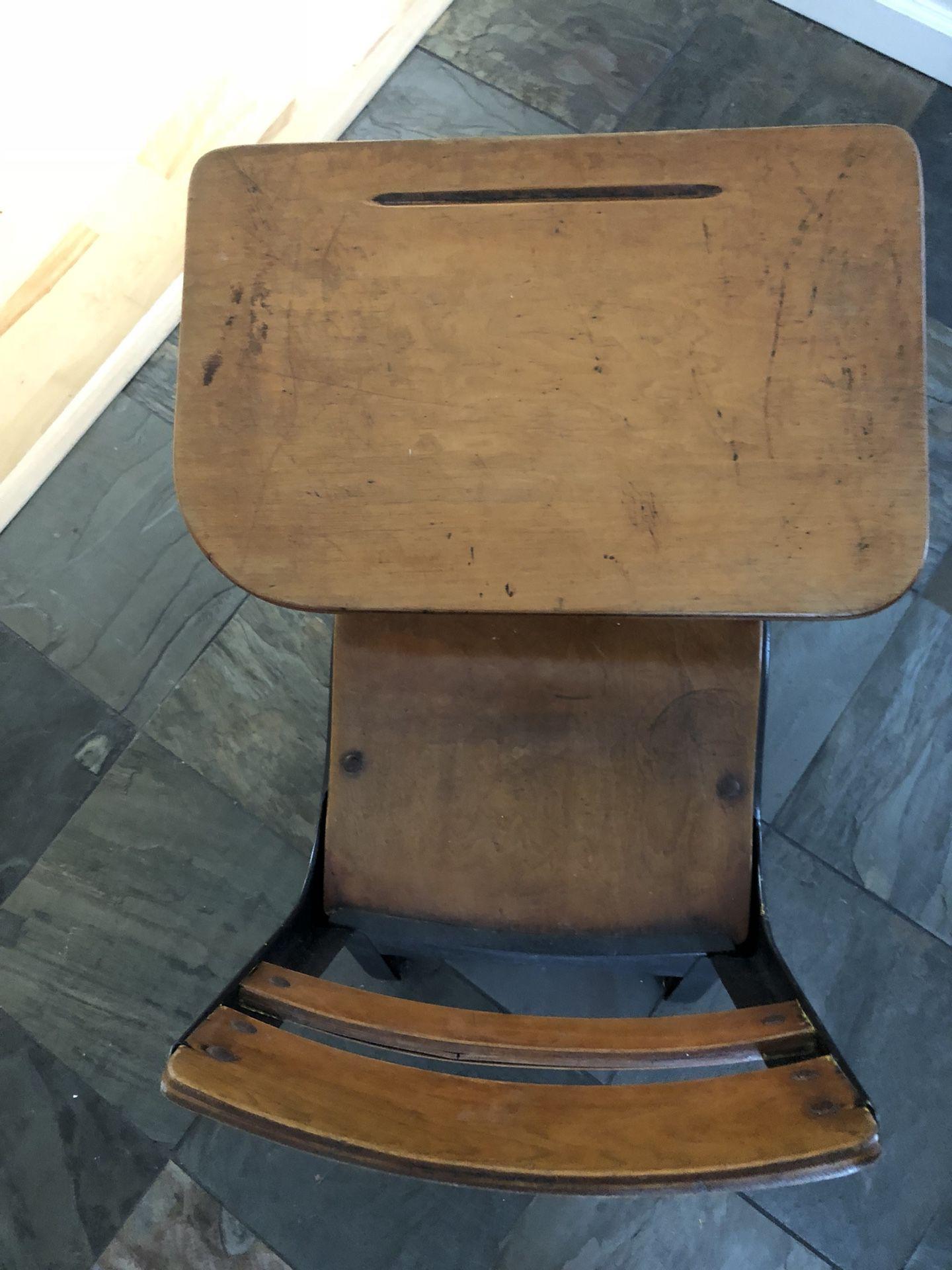 Vintage student desk