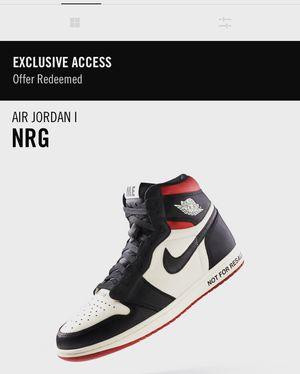 "Jordan 1 ""not for resale"" size 8.5 for Sale in San Francisco, CA"