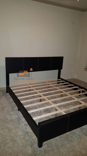 Brand New King Size Leather Platform Bed (4 Color Options) for Sale in Silver Spring, MD