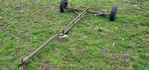 Photo Older car dolly rail buggy trailer
