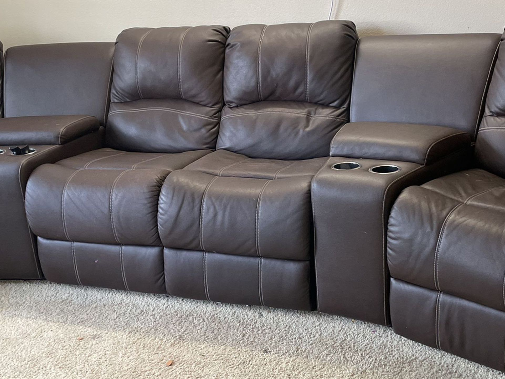 4 Seat Recliner Sofa With console