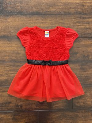 Photo Baby girl clothes toddler party red holiday dress size 3T