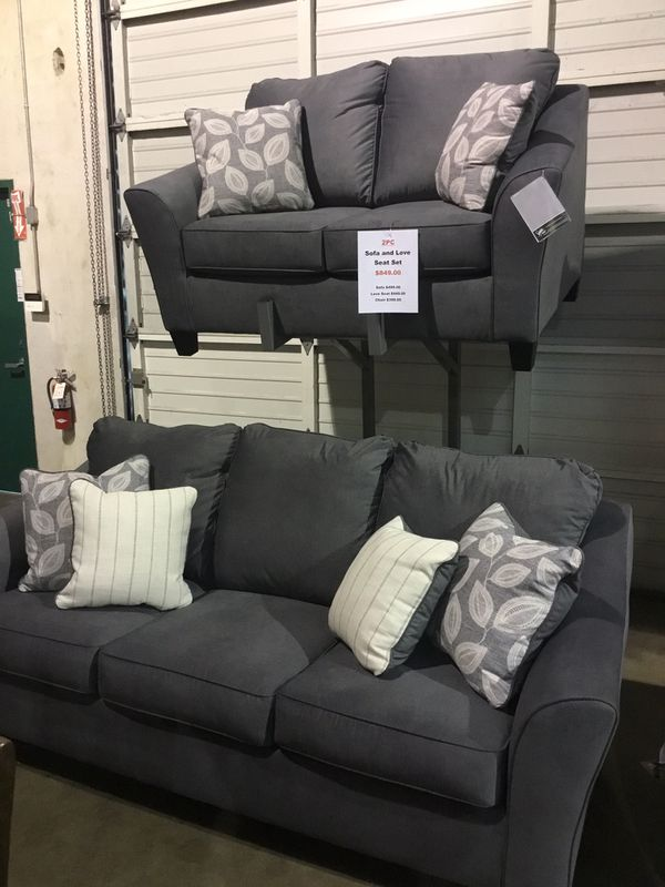 Charcoal Gray Sofa And Loveseat Set For Sale In Salem Or Offerup