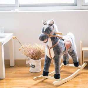 Baby Kids Toy Plush Wooden Rocking Horse Boy Riding Rocker for Sale in New York, NY