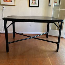 FOR SALE! 50's  black painted bamboo dining/kitchen table, seats 4-6, good condition  35w x 48l x 30h $60 Thumbnail