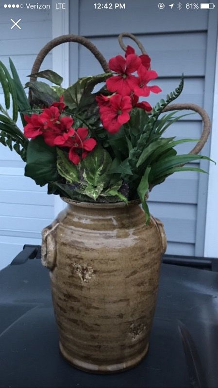 Fake flowered pot